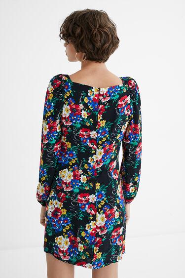 Vestido curto slim decote quadrado | Desigual