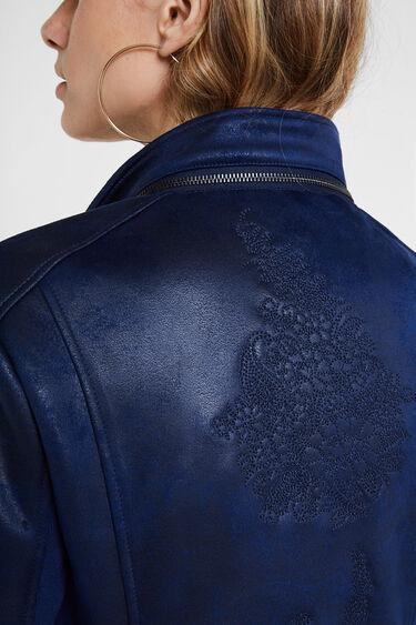 Biker-Jacke Slim Fit Stickereien | Desigual