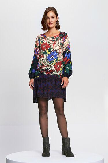 Short dress flounced skirt | Desigual