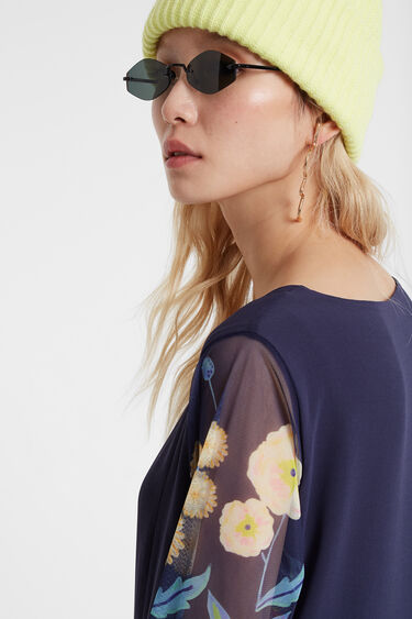 Robe multicouches fleurie | Desigual