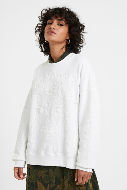 バリ島風 オーバーサイズ スウェットシャツ