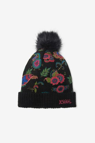 Paisley knitted hat