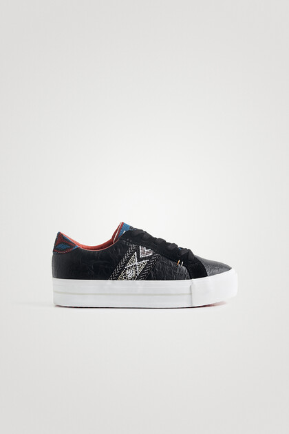 Ethnic sneakers chunky sole