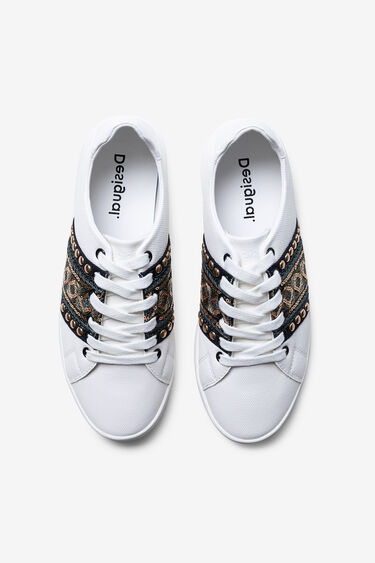 Sneakers convertible into babouches with trimming | Desigual