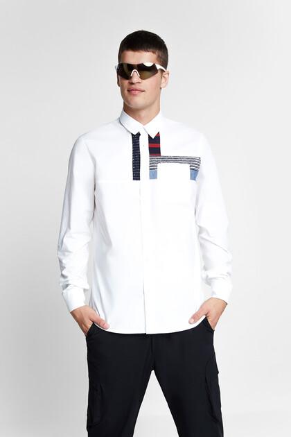 Camisa pegats 100% cotó
