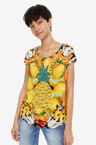 Yellow T-shirt with Pineapple Exeter