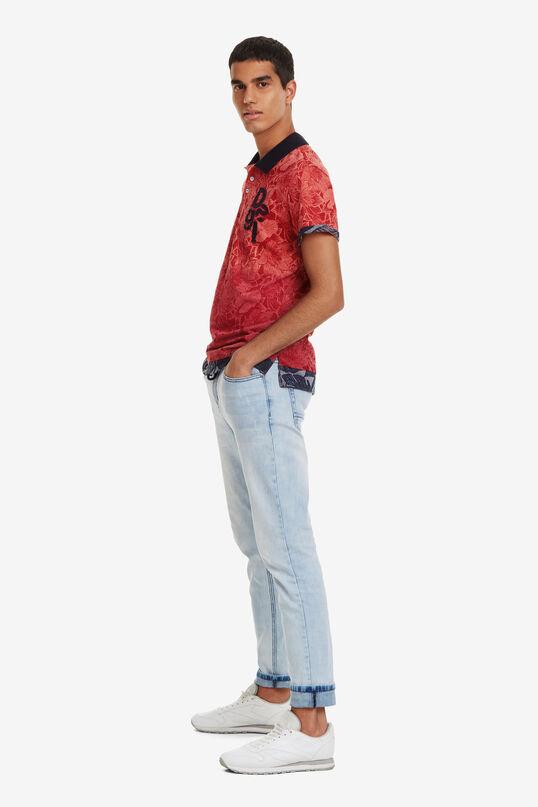 Tropical Print Polo Shirt Traze | Desigual