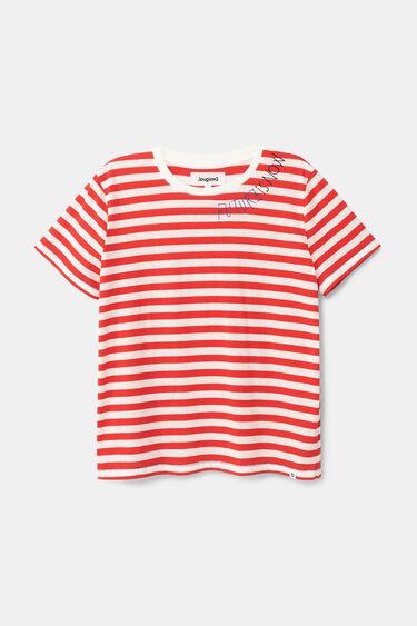 T-shirt riscas marinheiras 100% algodão | Desigual