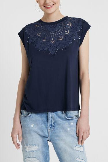 Samarreta encunyada de màniga curta | Desigual