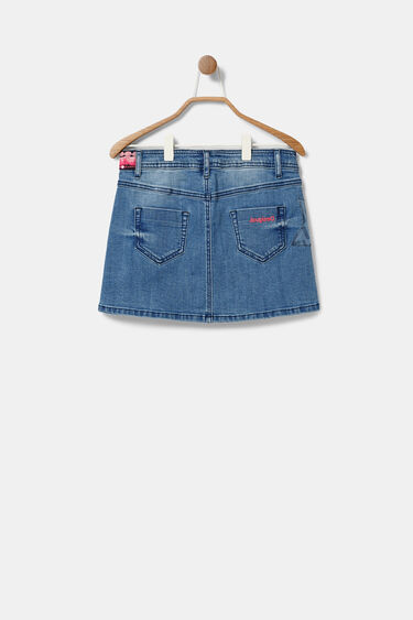 Denim mini-skirt embellishments | Desigual