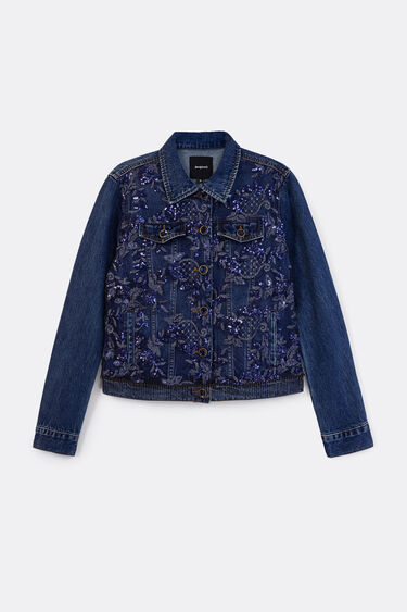 Denim jacket floral embroidery | Desigual