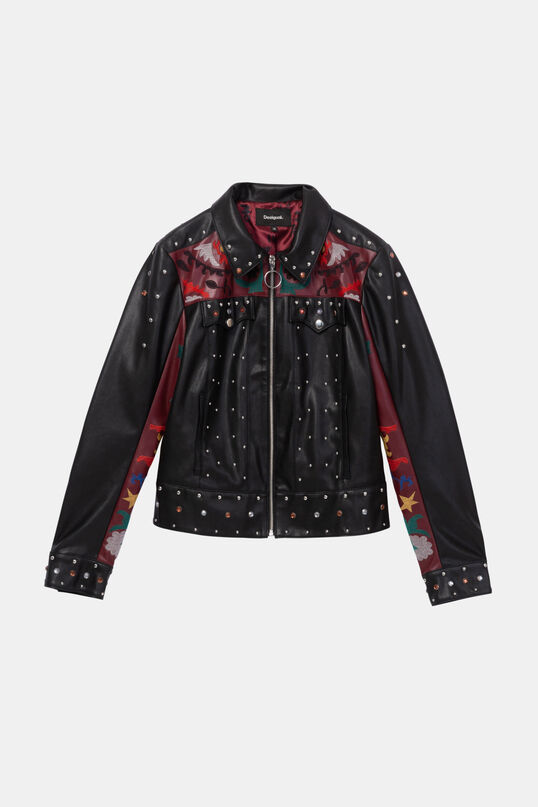 Embroidery studs jacket | Desigual