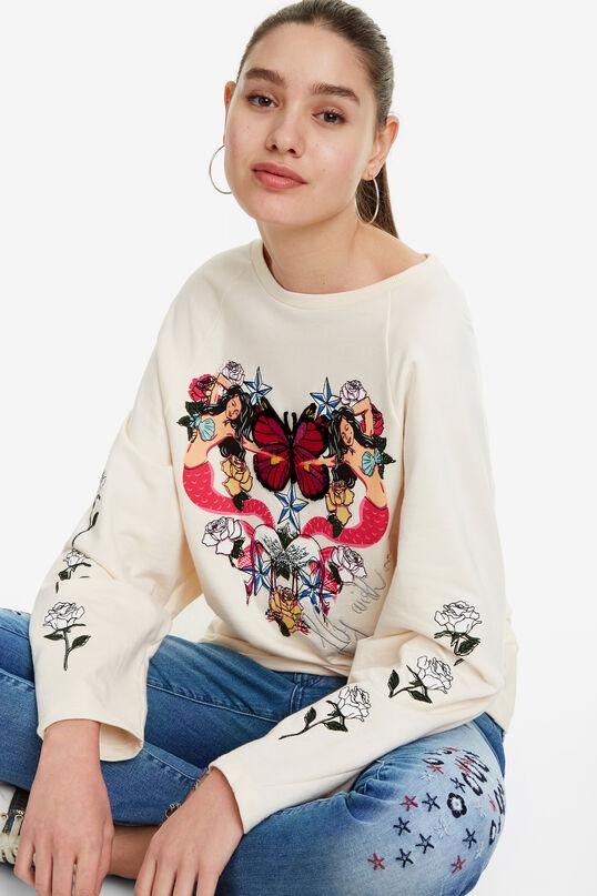 Mermaids Heart Sweatshirt Serene | Desigual