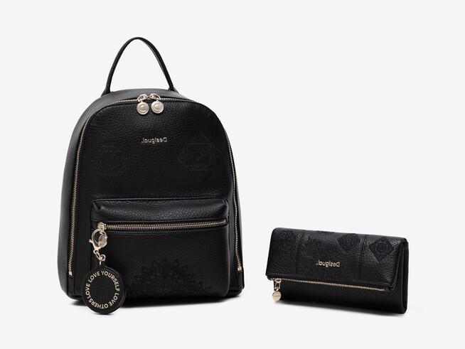 Conjunto mochila e carteira