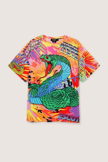T-shirt oversize serpente 100% algodão | Desigual