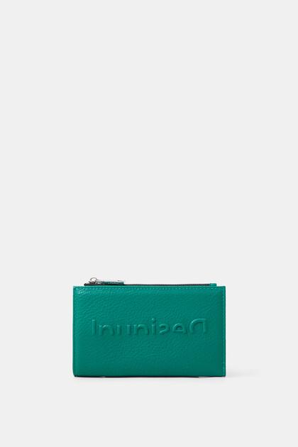 Langwerpige portemonnee met logo