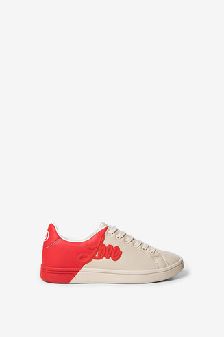 Bicolour patch LOVE sneakers