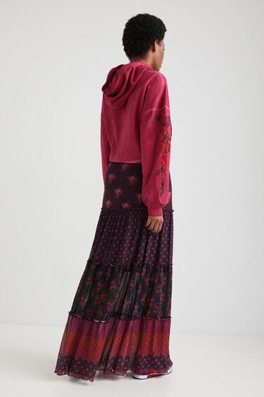 Długa spódnica z falbankami w stylu boho | Desigual