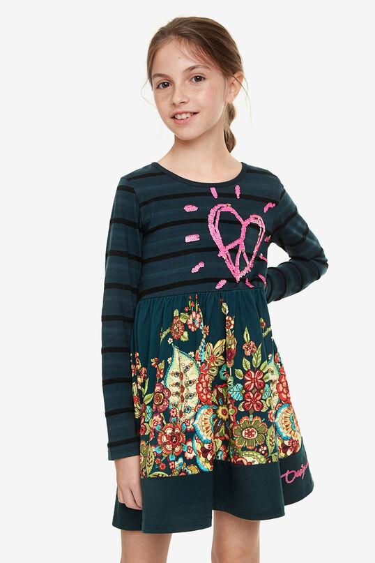 Kleid mit Pailletten-Herz | Desigual