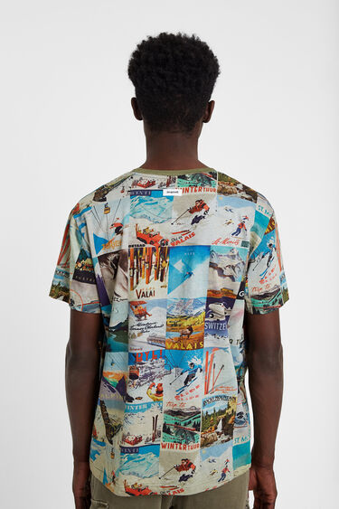 T-shirt ski postcards | Desigual