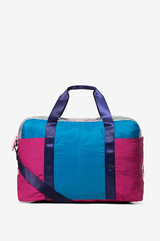 Mala color-block com minibolsa