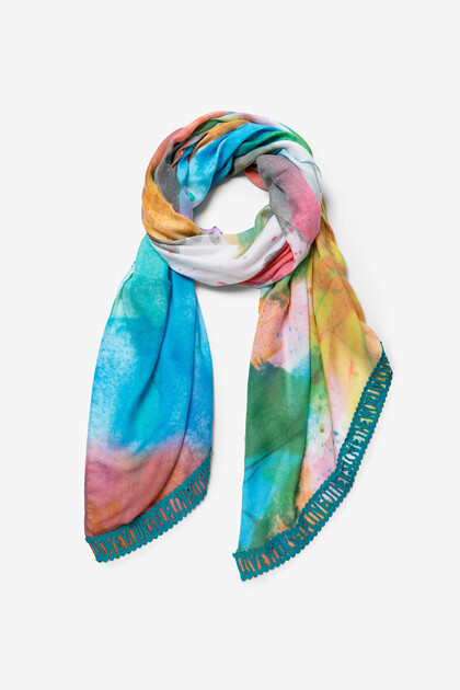Watercolour effect foulard