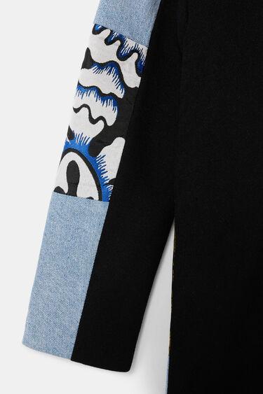 Jeansjacke aus zwei Materialien | Desigual