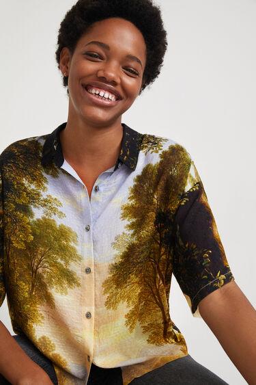 Camisa curta print digital | Desigual