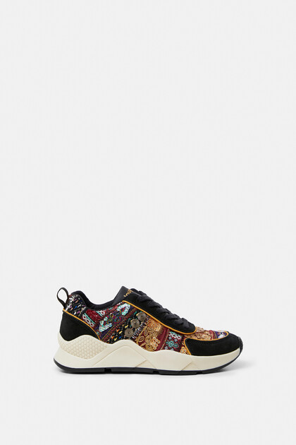 Boho embroidered sneakers