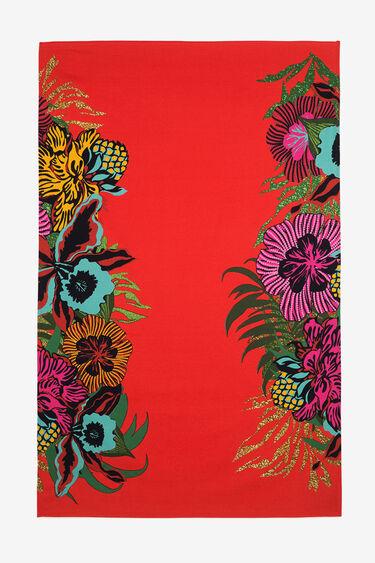 Red Floral Towel-Sarong Tropical | Desigual
