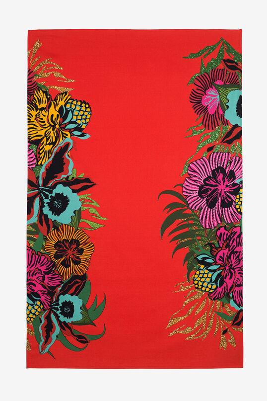 Red Floral Towel-Sarong Tropical   Desigual