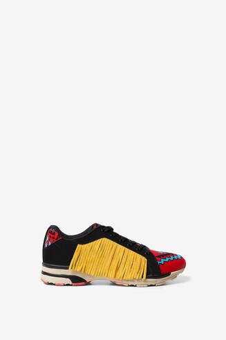 Navaho style fringe sneakers