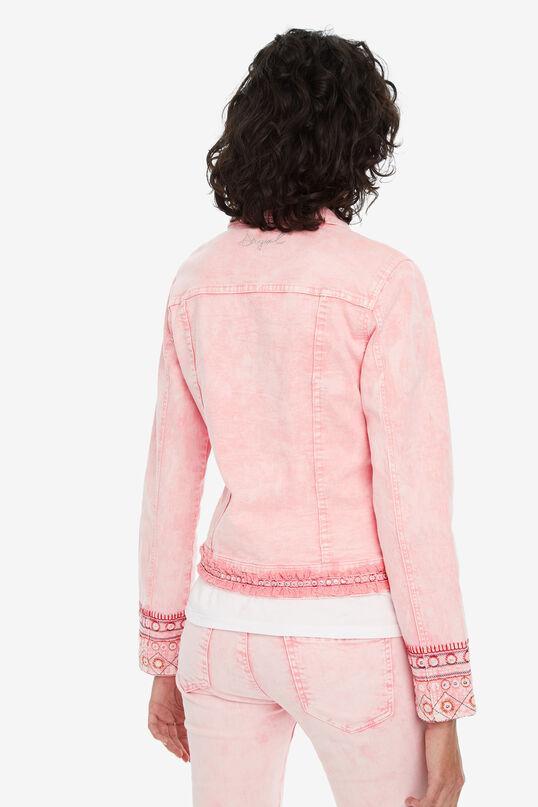 Veste rose avec broderies Boho | Desigual