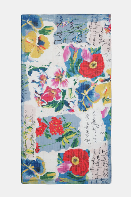 Fulard rectangular patch tropical