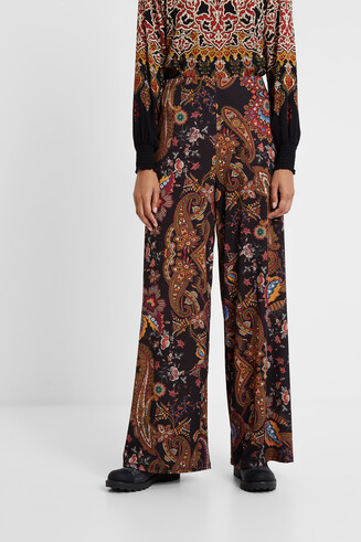 Floaty floral paisley trousers