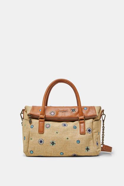 Handbag cotton embroidered