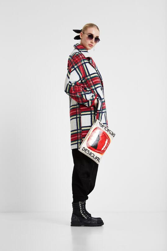 Cloth tartan coat | Desigual