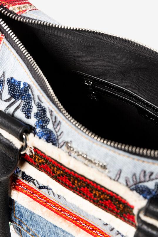 Shoulder bag patch rosso e denim | Desigual