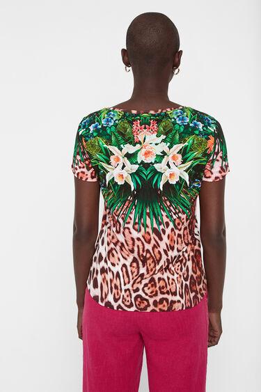 Multicolour animal print T-shirt | Desigual