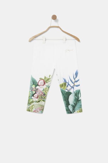Classic botanical capri leggings | Desigual