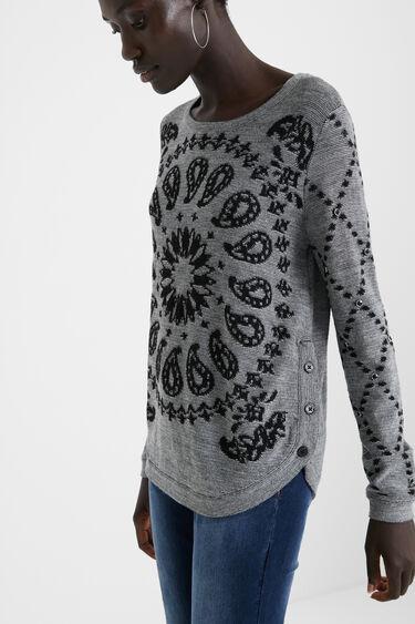 ビスコース混紡ウール・カシミア 丸裾セーター | Desigual