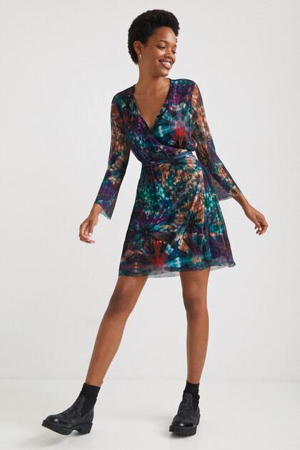 Arty pleated short dress