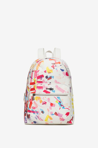 White Confetti Lima Backpack
