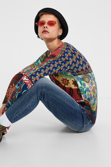 V-neck knitted sweater | Desigual