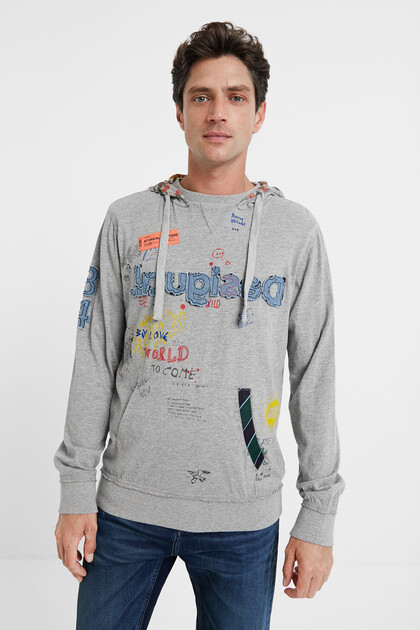 Plush hooded sweatshirt