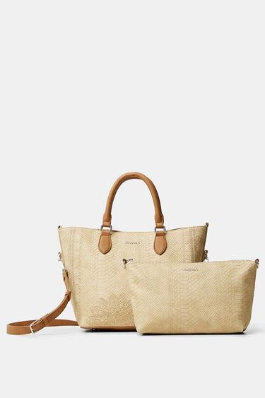 Reptile leather-effect bag | Desigual