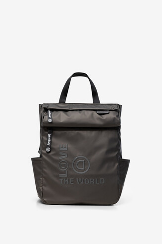 LOVE THE WORLD backpack in reflective canvas