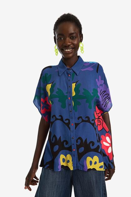 Oversize floral print shirt