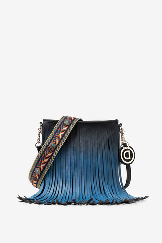 Fringe in degradé sling bag