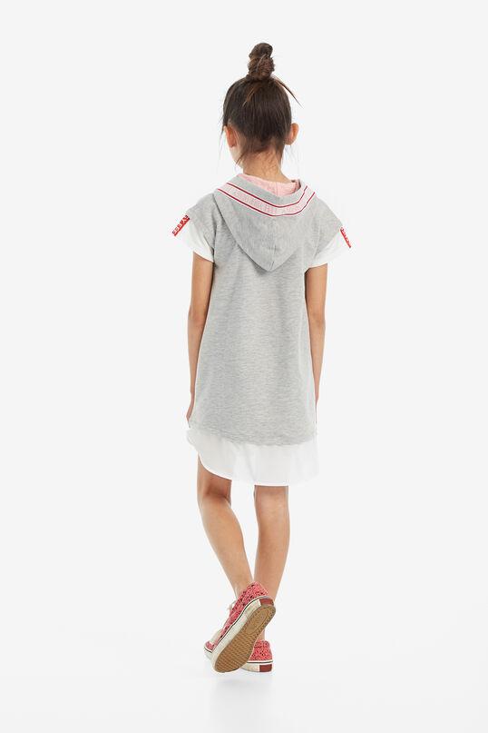 Plush hood visual effect dress | Desigual